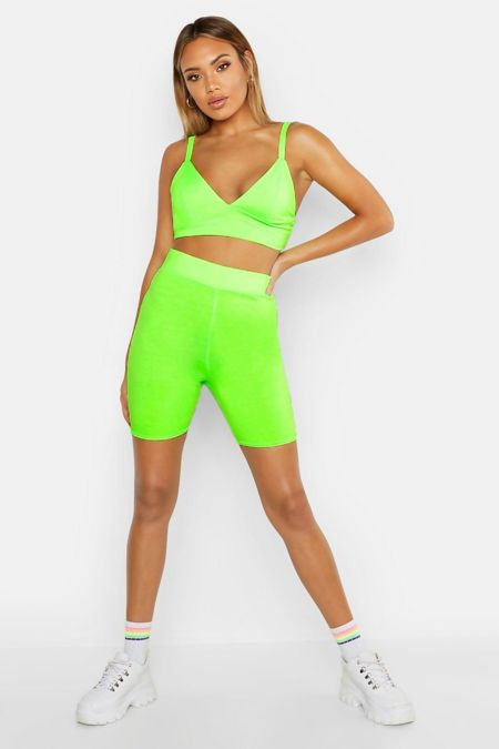 Neon Apple Cycling Shorts