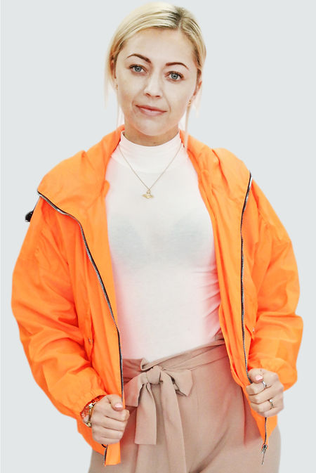 Neon Orange Hooded Festival Jacket