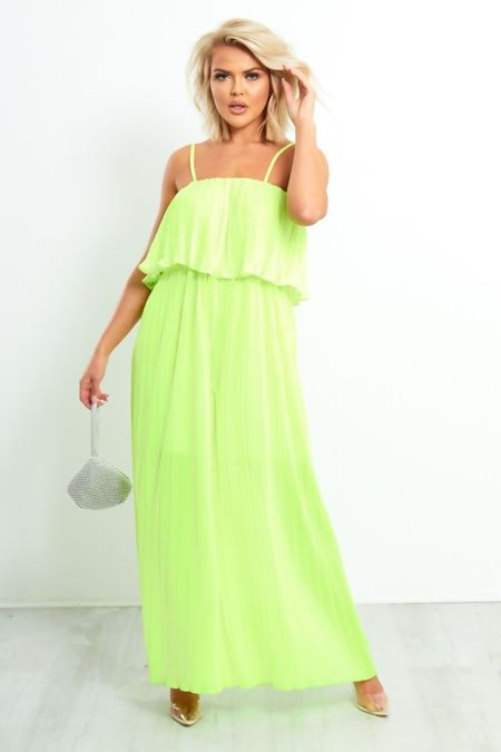 Neon Pastel Sphag Pleated Jumpsuit