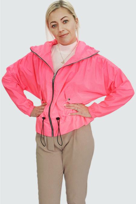 Neon Pink Hooded Festival Jacket