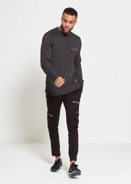 Night Adaict Black Chino Trouser