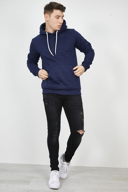 Navy Flex Fleece Pullover Hoodies
