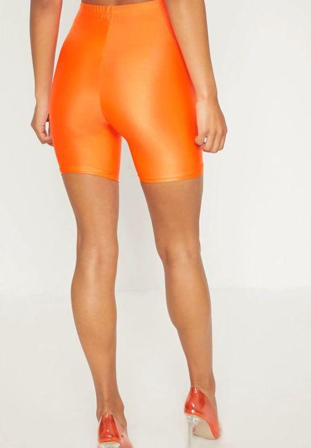 Plus Size Beige Slinky Cycling Shorts