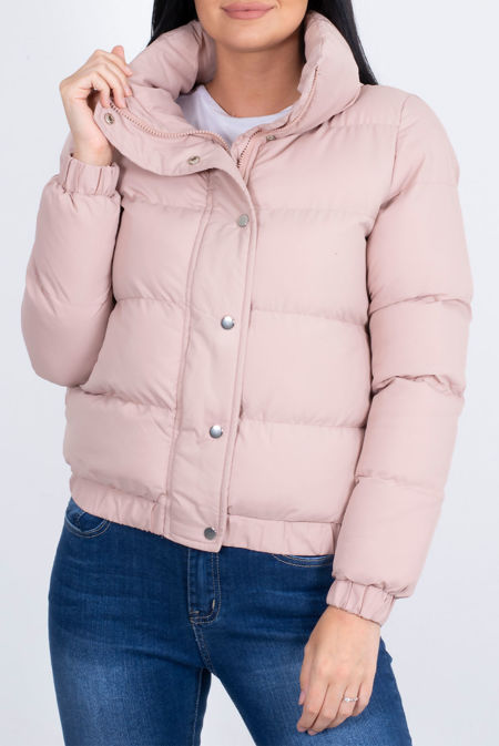 Oversized Collar Padded Puffer Jacket