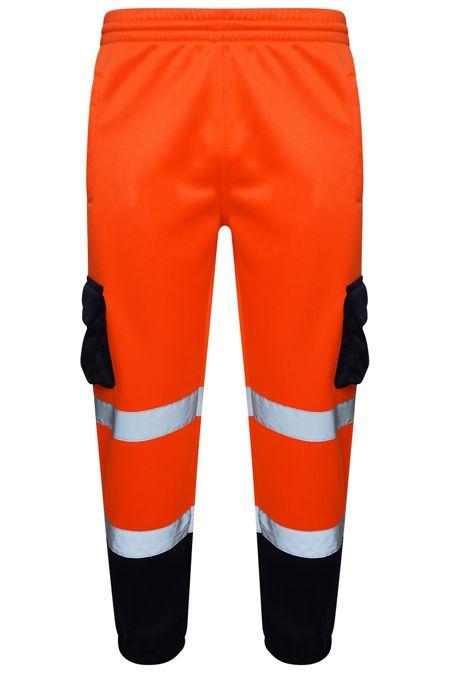 Orange Hi Vis Double Tone Fleece Trouser