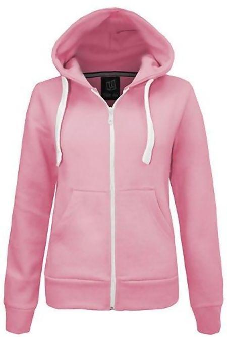 Pink Basic Hooded Jacket