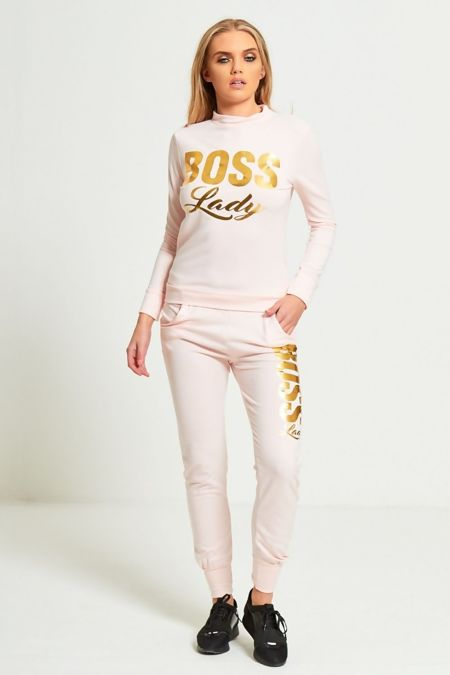 Plus Size Dusty Boss Lady Customized Tracksuit