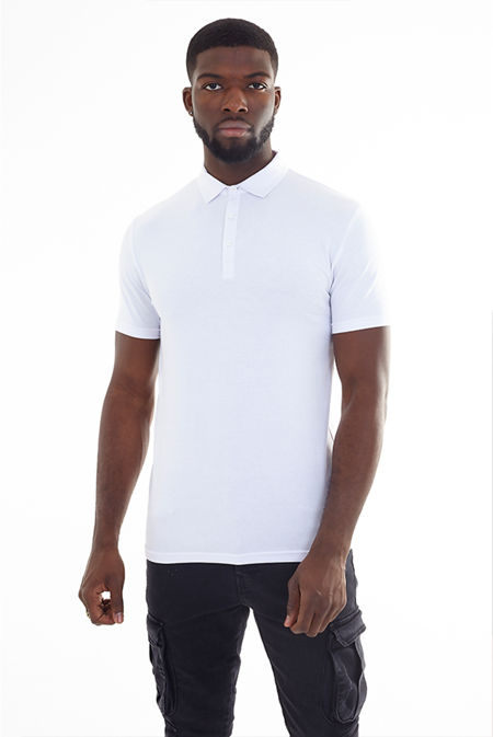 Plain Muscle Fit Short Sleeve Polo Shirt