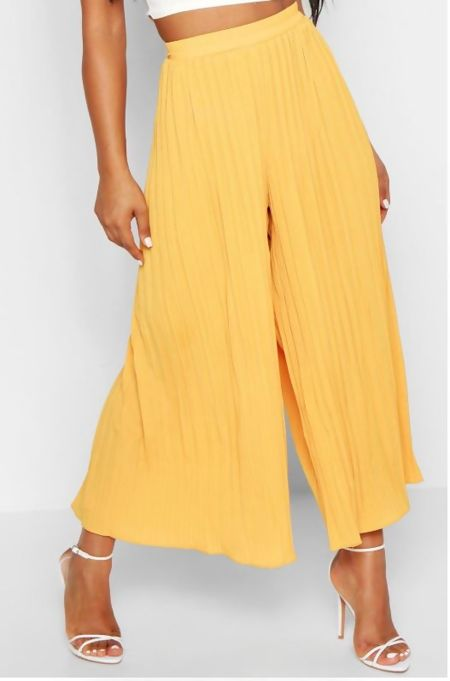 High Waist Pleated Wide Leg Trosuers
