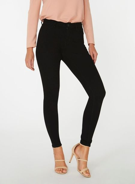 Plus Size Black Five Pocket Jeans