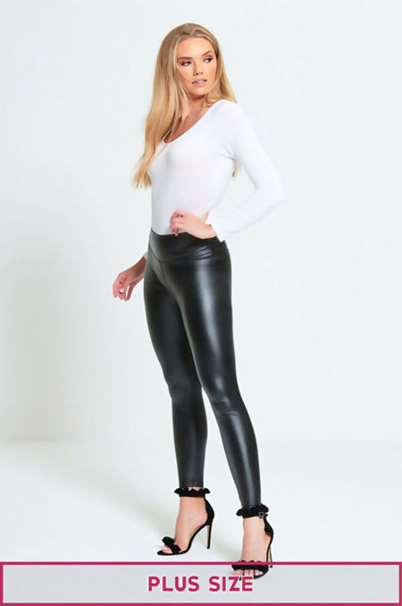 Plus Size Black Skinny High Waist Leggings