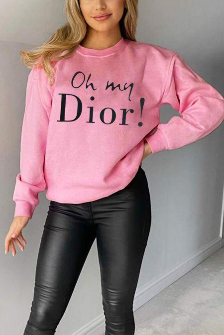 Plus Size Pink Oh My Dior! Sweatshirt