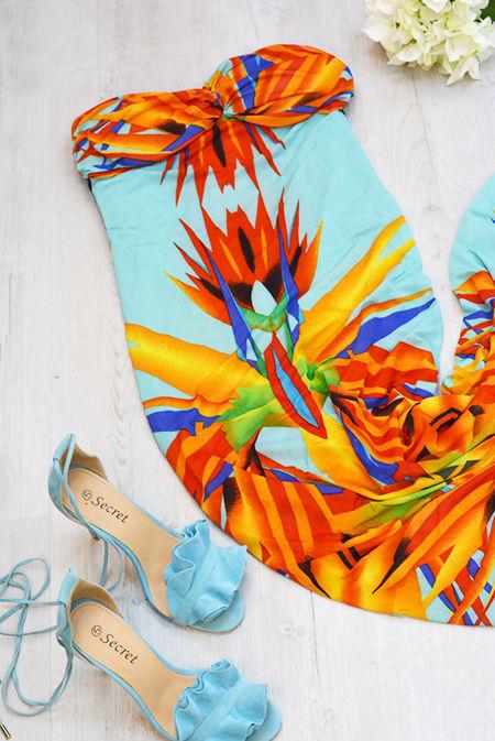 Printed Bandeau Maxi Dress