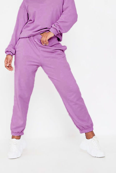 Purple Oversized Joggers