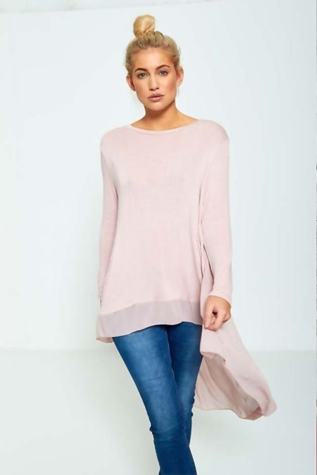 Plus size Lightweight Knit Fishtail Top