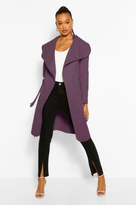 Purple Waterfall Duster Coat
