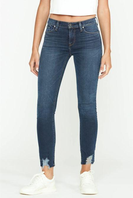 Super Skinny Raw Hem Jeans