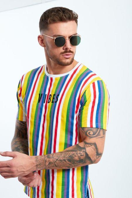 Rainbow Stripe Vibes T-shirt