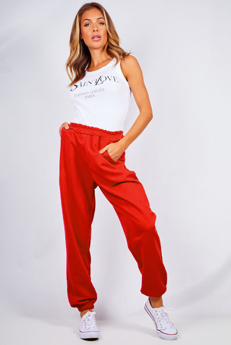 Red Oversized Joggers