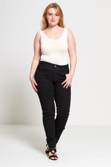 Contrast Stitch Skinny Jeans