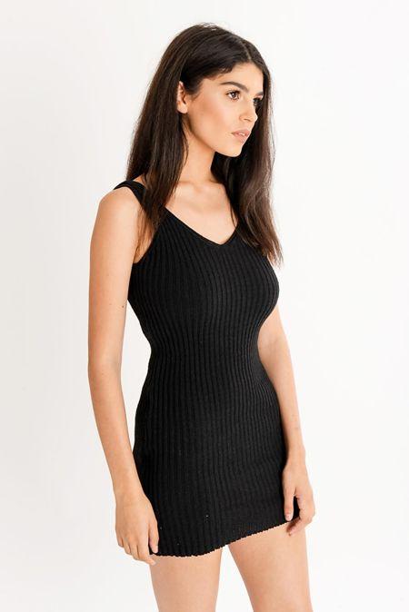 Rib Knit Cami Dress
