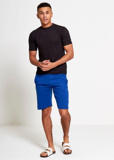 Royal Blue Sport Stripe Sweat Shorts Set