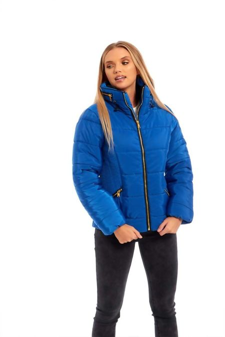 Royal High Neck Padded Puffer Quilted Jacket