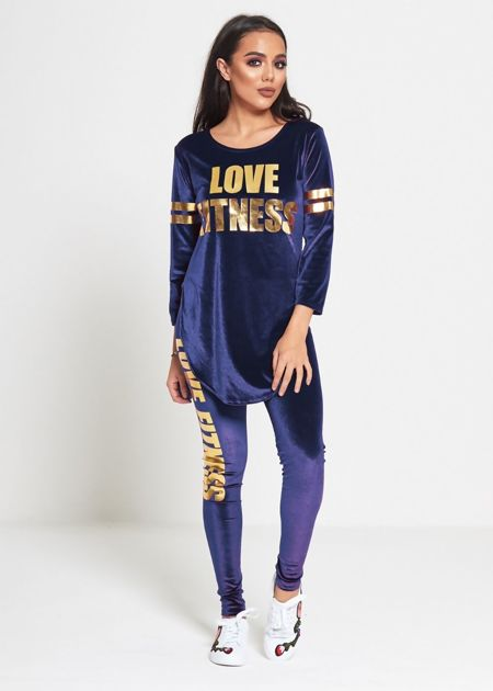 Royal Velvet Love Fitness Tracksuit