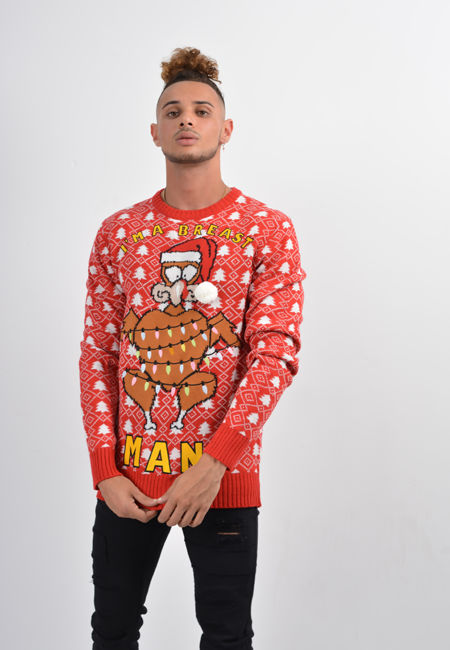 Red Breast Man Christmas Jumper