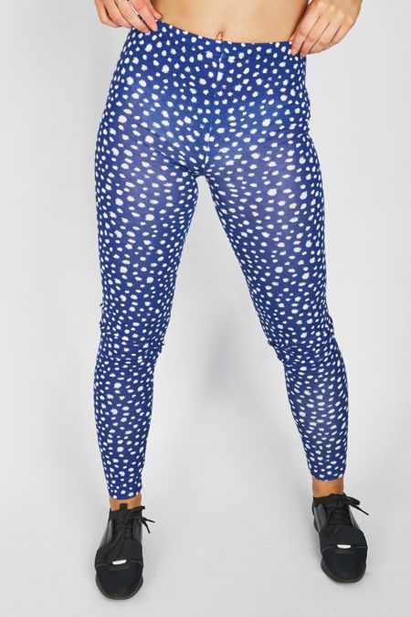 Royal Blue spots Printed Legging