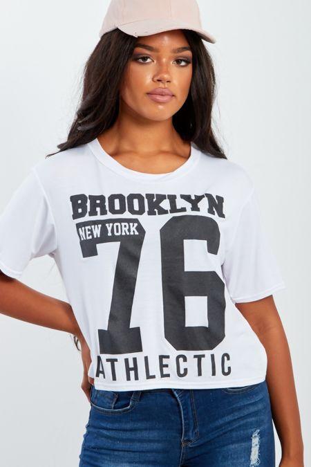 Brooklyn New York 76 Printed Crop Top