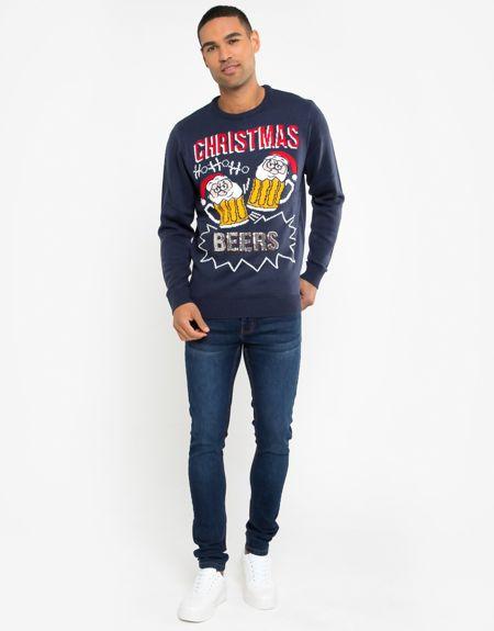 Red Ho Ho Ho Beers Christmas Jumper