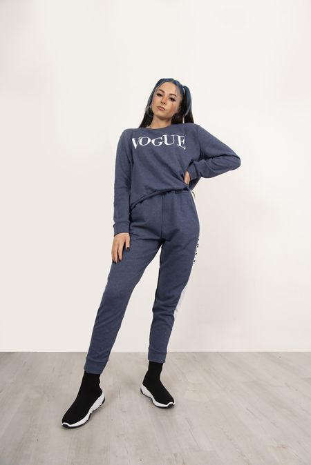 Plus Size Denim Vogue Tracksuit