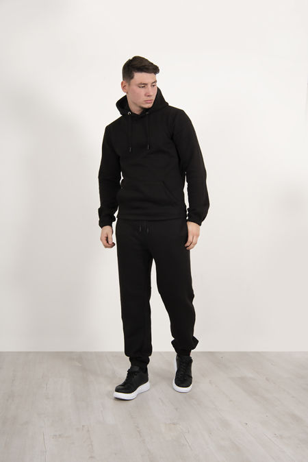 Black Pullover Hooded Tracksuit