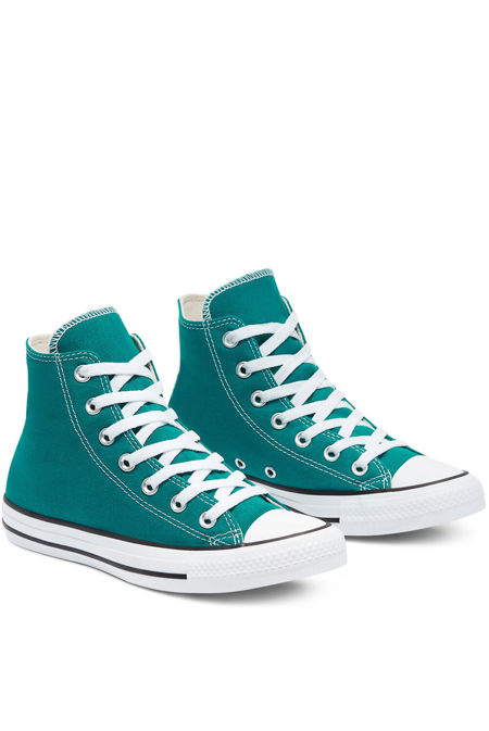 Turquoise High Top Canvas Trainers