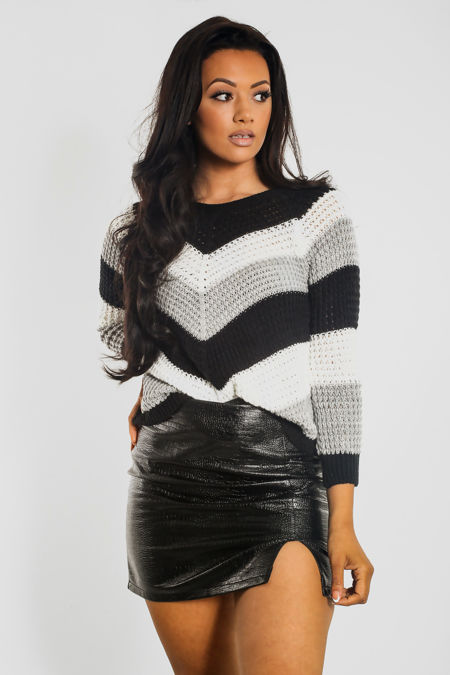 Tricot Wrap Knitted Jumper