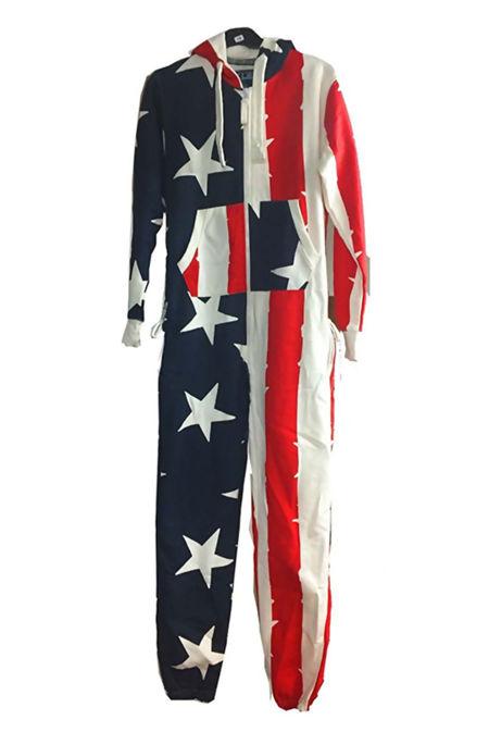 USA Flag Print Onesie