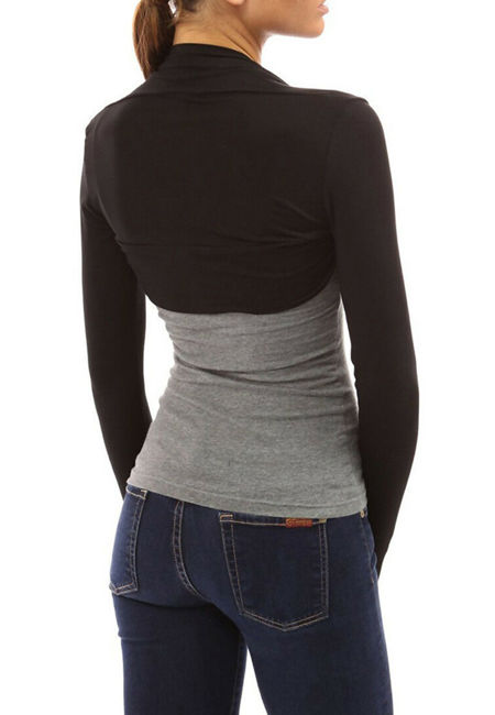 Viscose Cropped Plain Shrug