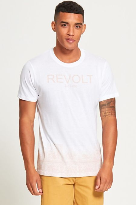 White Be Free Revolt Slogan T-Shirt