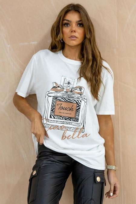 Plus Size White Ciao Bella Oversized Tee