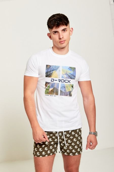 White D-Rock Customized T-shirt