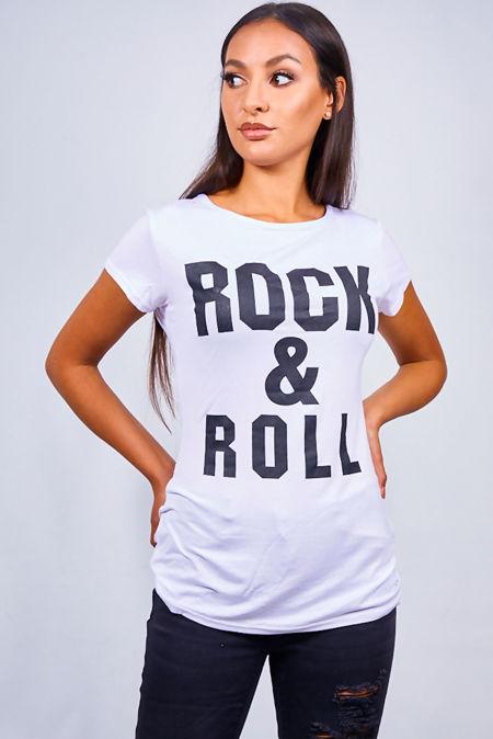 Grey Rock & Roll Tee Top