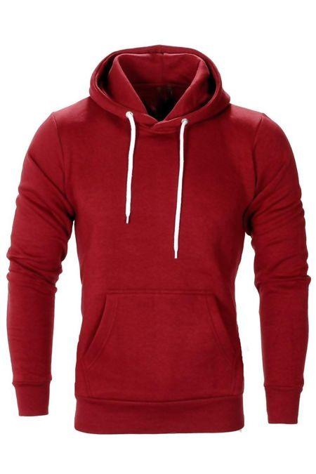 Wine Flex Fleece Pullover Hoodies
