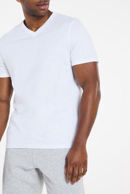 White Classic V-Neck T-Shirt