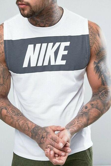 White Nike Retro Logo Vest