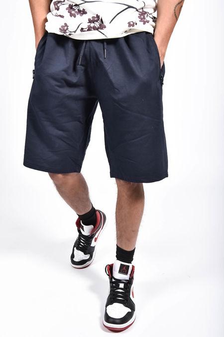 Navy Zip Pocket Jersey Shorts