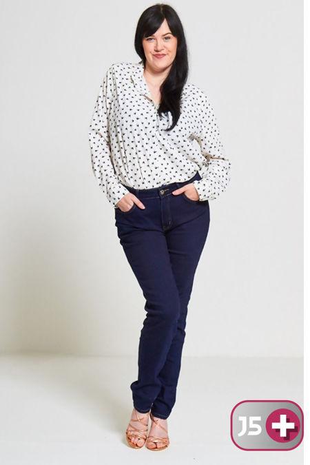 Plus Size Cream Bird Print Shirt