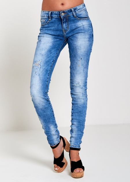 Ruched Spatted Jeans