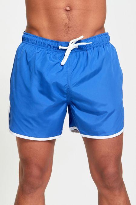 Royal White Stripe Swim Shorts