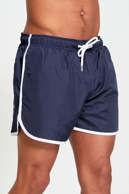 Red White Stripe Swim Shorts